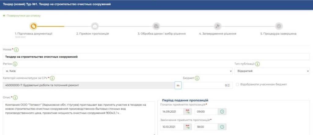 RFI тендер Salesbook